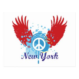 New York Peace Sign Postcard