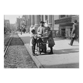 New York Peanut Stand on West 42nd Street 1903 Print