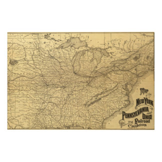 New York, Pennsylvania and Ohio Railroad Wood Wall Art