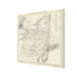 New York, Pennyslvania, and New Jersey Canvas Print