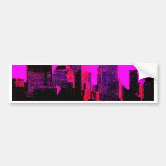 new york pink bumper sticker
