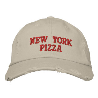 NEW YORK PIZZA EMBROIDERED BASEBALL CAPS