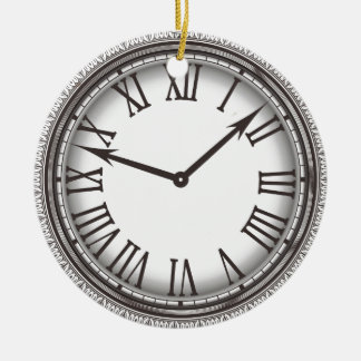 New York Pocket Watch Ornament Round