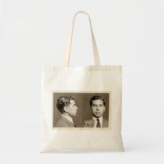 New York Police Mugshot Charles Lucky Luciano Canvas Bags