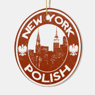 New York Polish American Christmas Ornament