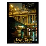 New York Postcard Grand Central Souvenir Card