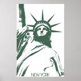 New York Poster Statue of Liberty New York Print