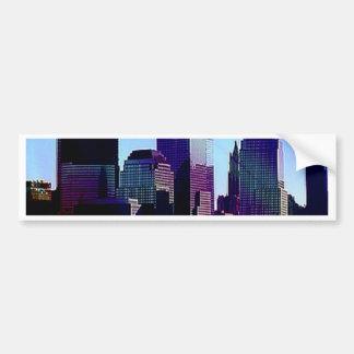 New York purple effect Bumper Sticker