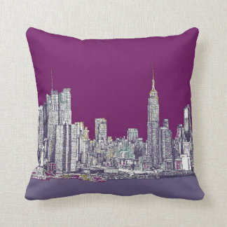 New York purple lilac Cushion