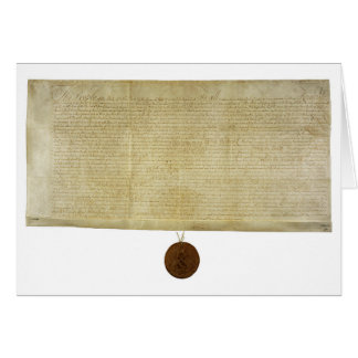 New York Ratification of the Bill of Rights (1790) Greeting Card