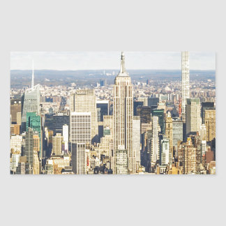 New York Rectangular Sticker
