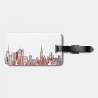 New York red black Luggage Tag