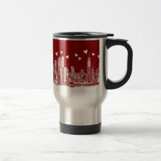 New York red hearts Mug