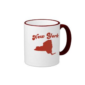 NEW YORK Red State Ringer Mug