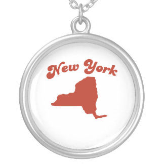 NEW YORK Red State Round Pendant Necklace