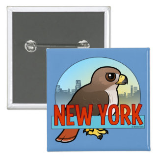 New York Red-tailed Hawk 15 Cm Square Badge