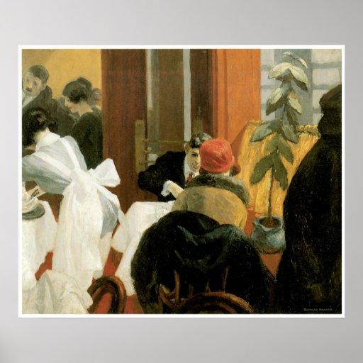 New York Restaurant c. 1922, Edward Hopper Posters