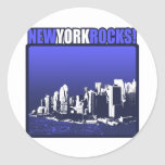 New York Rocks! Classic Round Sticker