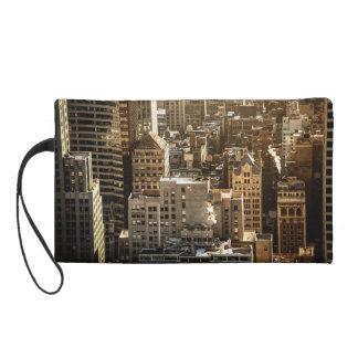 New York Rooftops - Skyscrapers in Sunlight Wristlet Purses