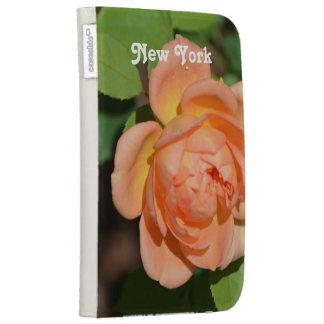 New York Rose Kindle Folio Cases