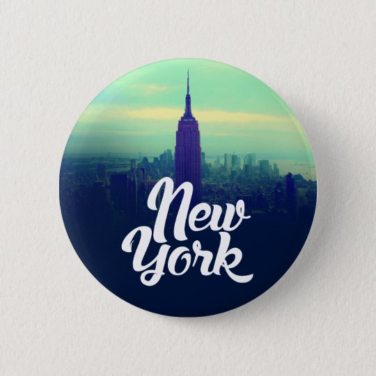 New York Round Button