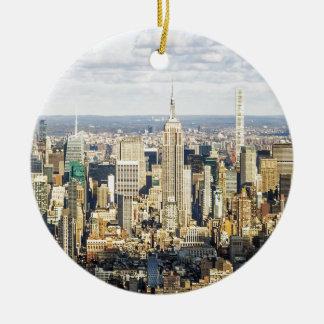 New York Round Ceramic Decoration