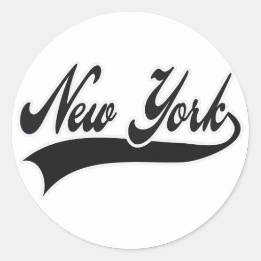 NEW YORK ROUND STICKER