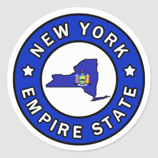 New York Round Sticker