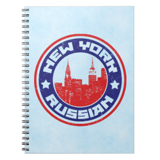 New York Russian American Notepad Notebook