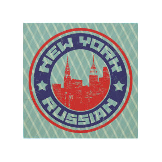 New York Russian American Wood Canvases