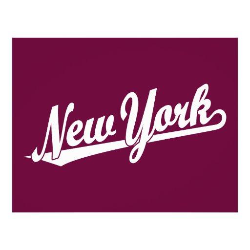 New York script logo in white Full Color Flyer