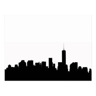 New York Silhouette Postcard