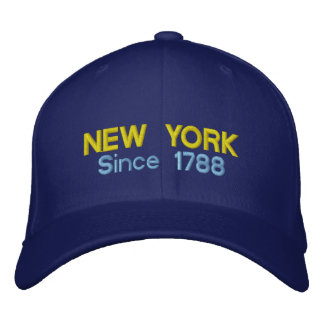 New York Since 1788 Embroidered Baseball Cap