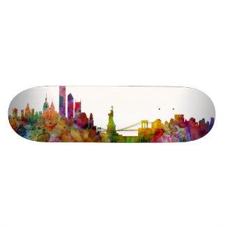 New York Skyline 21.3 Cm Mini Skateboard Deck