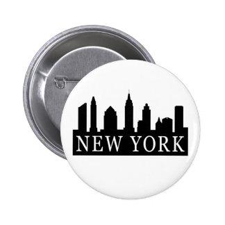 New York Skyline 6 Cm Round Badge