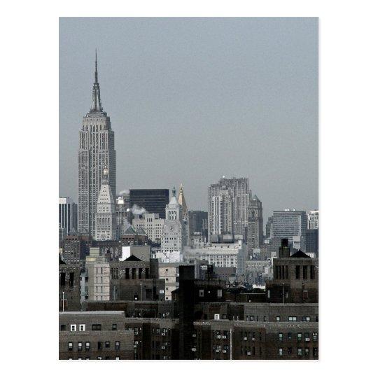 New York Skyline and Brooklyn Postcard