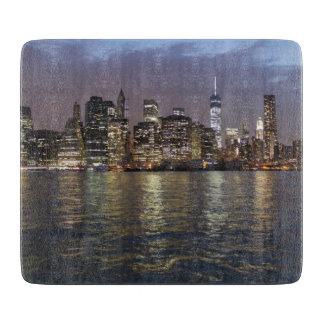 New York skyline at night Cutting Board