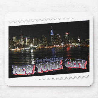 New York Skyline at Night Empire State Mouse Mat