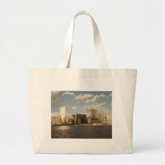 New York Skyline Before 9/11  Twin towers Jumbo Tote Bag
