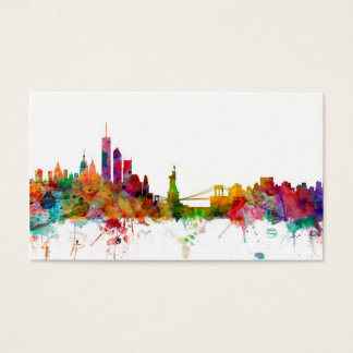 New York Skyline Business Card