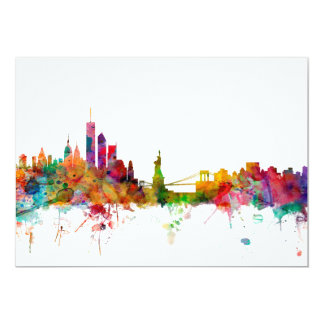 New York Skyline Card