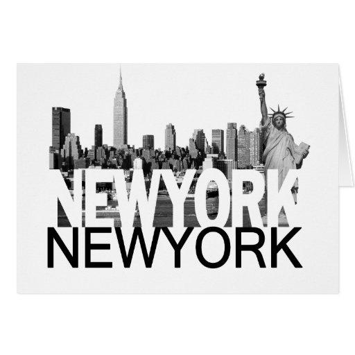 New York Skyline Card