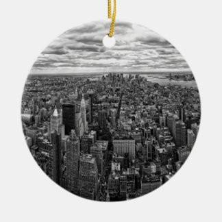 New York Skyline Christmas Ornament