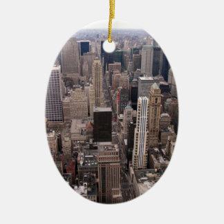 New York Skyline Christmas Ornament