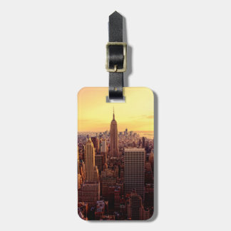 New York skyline city with Empire State Bag Tag