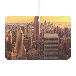 New York skyline city with Empire State Car Air Freshener