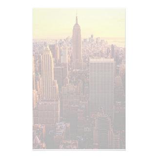 New York skyline city with Empire State Customized Stationery