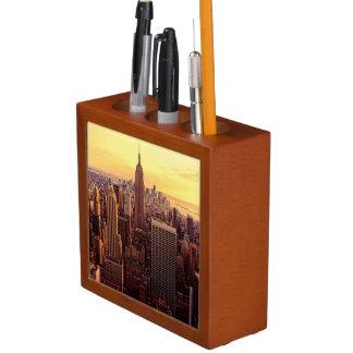 New York skyline city with Empire State Desk Organiser