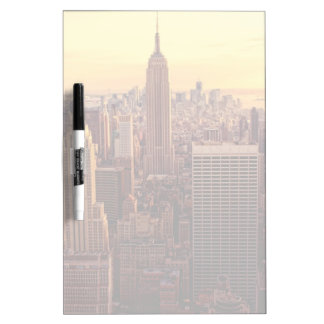 New York skyline city with Empire State Dry Erase Board