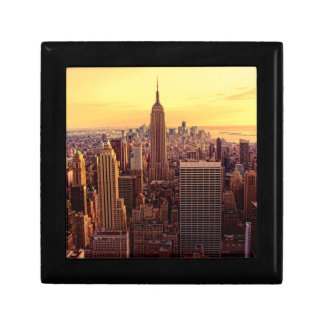 New York skyline city with Empire State Gift Box